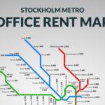 SL-karta för lokalhyror i Stockholm
